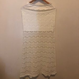 Lily white maxi lace skirt